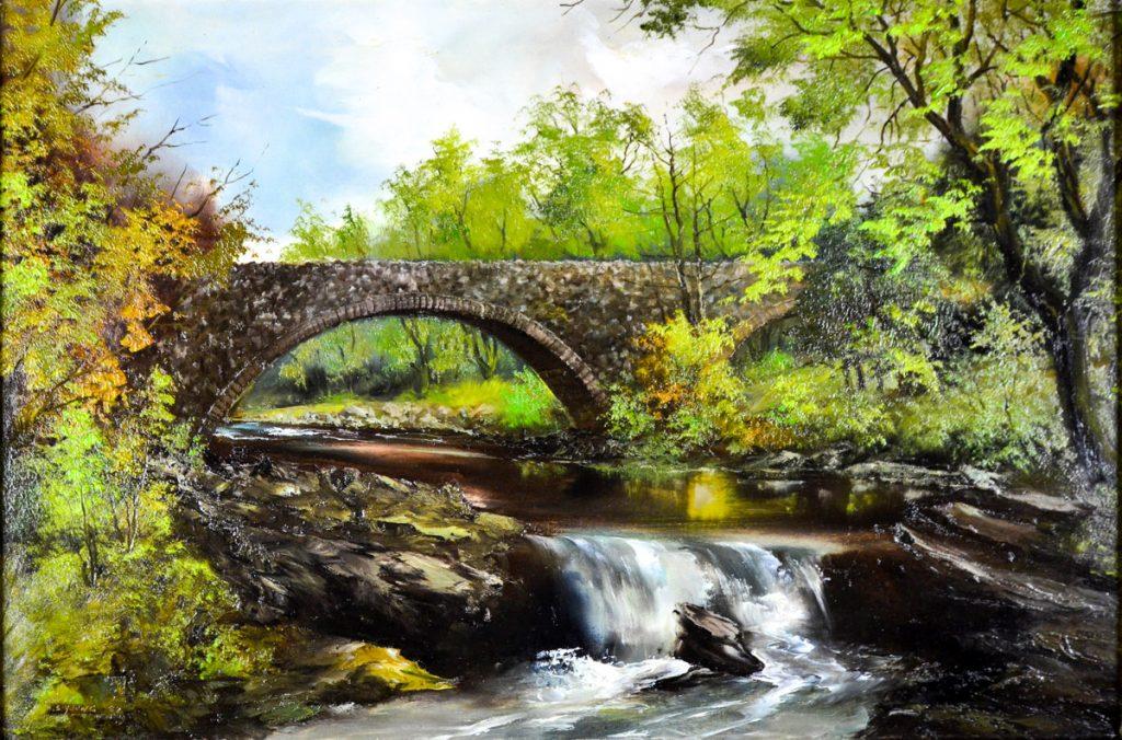 Bridge over fast water