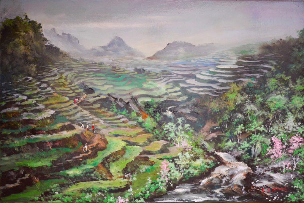 Hai Shuet Yeungs home village step farm
